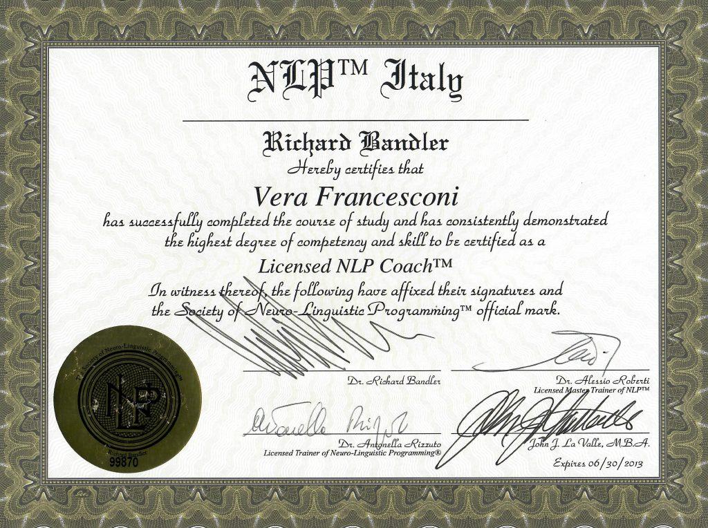 NLP Coach Vera Francesconi